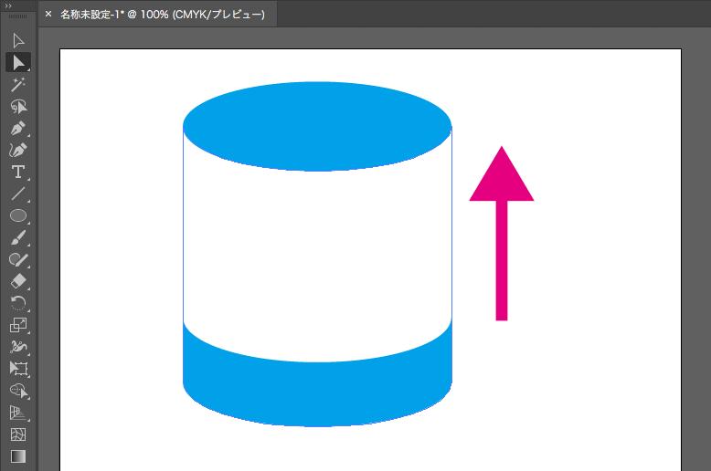 Illustrator_円柱の作り方