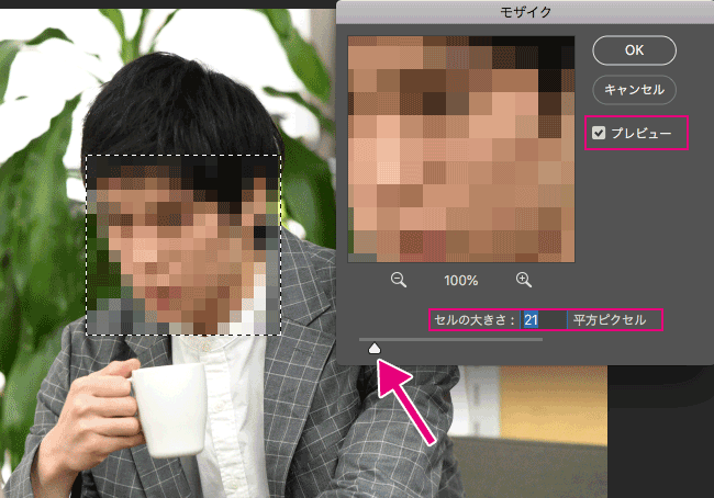 Photoshop_モザイク